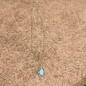 Stella & Dot Aqua pendent necklace set